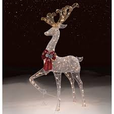 Christmas Decorations Sears Trimming Traditions Outdoor 200 Lights Standing Deer Sears