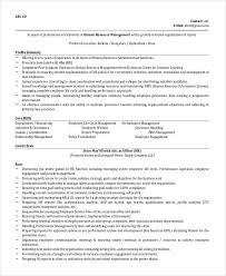 HR Manager Resume Format