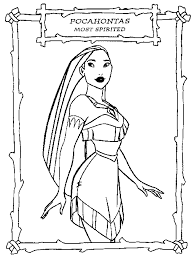 Small Picture Pocahontas Coloring Pages Kids Coloring Page Disney coloring