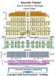 Emerald Theatre Tickets And Emerald Theatre Seating Chart