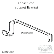 closet rod bracket adjule heavy duty menards