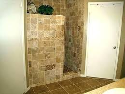 showers non tiled shower ideas partial wall for walk in no grout tile how to mosaic taping shower corners to caulk no grout tile