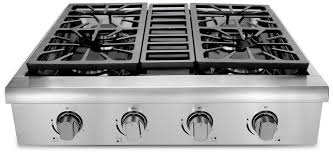 gas cooktop with grill. Thor Kitchen HRT3003U 30 Inch Gas Rangetop With 4 Sealed Burners, Continuous Grates, Stainless Steel Controls And Porcelain Drip Pan Cooktop Grill