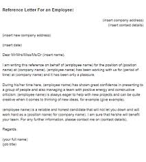 sample letter employee reference letter for an employee sample just letter templates