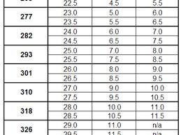 salomon size charts ski boot size chart salomon two seasons size charts ski boots sizes