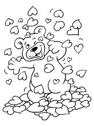Kleurplaat Valentijnsdag Knuffelbeer Kleurplatennl