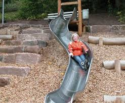 curved slide bespoke curved slides jupiter play esi external works