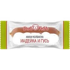 <b>Лакомство Dog Fest мини</b>-<b>колбаска</b> из индейки и гуся для собак - 6 г