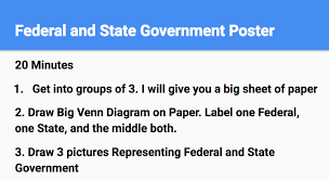 State Powers Vs Federal Powers Venn Diagram Federalism Lesson Plan With Annotations