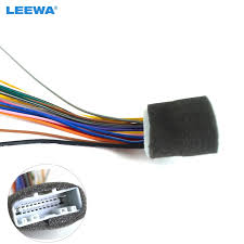 popular stereo harness buy cheap stereo harness lots from china Dual 20 Pin Wire Harness 10pcs 20pin car audio stereo wiring harness adapter for nissan subaru infiniti install aftermarket Wire Electrical Pin Connectors Male