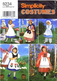 Halloween Costume Patterns Enchanting Simplicity 48 Sewing Pattern Girls Red Riding Hood Bo Peep Dutch