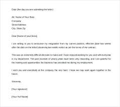 Sample Resignation Letter 2 Weeks Notice Stunning 48 Weeks Notice Letter Samples Worldwidejibaroco
