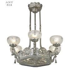 vintage art deco chandeliers art nouveau or deco french chandelier antique ceiling