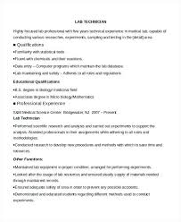 Entry Level Pharmacy Technician Resume From Chemistry Lab Technician