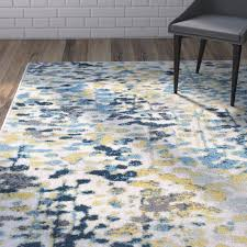 area rug blue and yellow designs