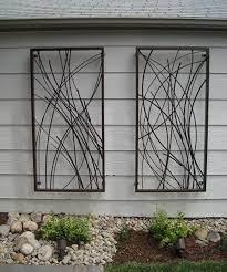 custom outdoor wall art design plank