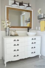 interior old dresser turned bathroom vanity tutorial clever turning a into 1 turning a