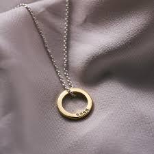 personalised mini circle necklace
