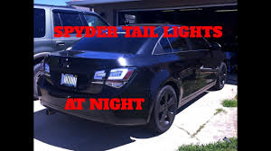 CHEVY CRUZE TAIL LIGHT UPGRADE BY SPYDER (NIGHT VIEW) - YouTube