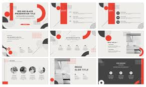 Red Ppt Red And Black Report Free Ppt Template And Free Google