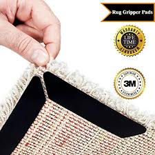rug gripper tape pads anti slip non skid carpet corners easily stick rugs to floor reusable uses kraftex double sided carpet tape grips any floor no