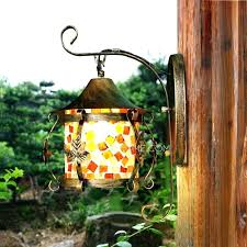hanging wall lanterns marvelous stained glass outdoor lantern candle sconces outdo