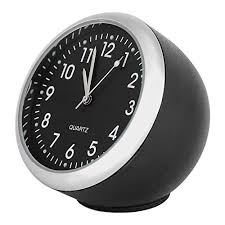 fdit car dashboard clock classic small round table onboard quartz clock with luminated light mini noctilucent watch clocks for auto decoration