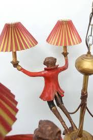 vintage bill huebbe original handcrafted monkeys chandelier whimsical for 3