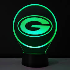 3d glow night light green bay packers team logo lampe de table creative gadget mini usb led lights lampade kida kid gift in night lights from lights