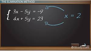 elimination method in algebra definition examples lesson transcript study com