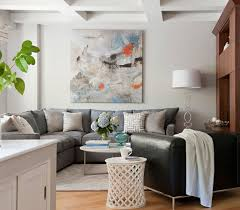 Small Picture Living Room Light Gray Walls Dark Couch Pops Of Color Best