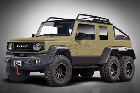 Suzuki Jimny transforms into a 6x6 off-roader pickup truck | Autodeal