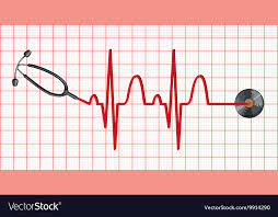 Stethoscope And Heartbeats On Graph Paper
