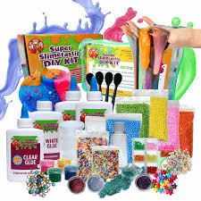 large diy slime kit for girls and boys includes 4 bottles of glue borax