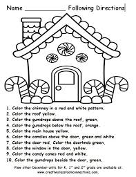 best listening skills following directions images gingerb house for a following directions activity more units for k 1st