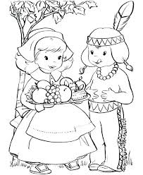 free indian coloring pages coloring page coloring pages color page boy and pilgrim girl printable free