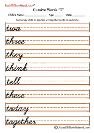 cursive word practice cursive words aussie childcare network