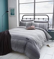 denim duvet cover grey