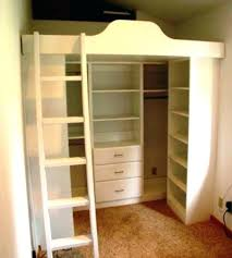 lofted bed with closet underneath bed with closet underneath bed with closet for loft beds closets