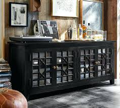glass media console tv stands contemporary metal and by coaster pottery barn front
