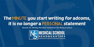 Writing Personal Statements For Medical School