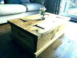 round coffee table with storage rustic square extra large