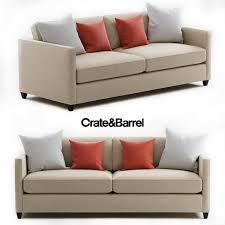 crate and barrel dryden sofa 3d model max fbx 1