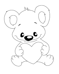 Complex Teddy Bear With Heart Coloring Pages I6854 Teddy Bear With