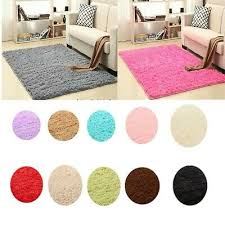 new large small gy floor rugs plain soft sparkle area mat thick pile glitter
