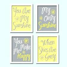 yellow and grey wall art canvas gray uk