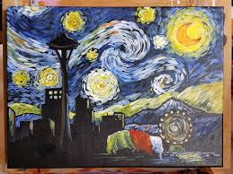 come paint the seattle skyline with a van gogh style starry night sky to support the venturing crew 215