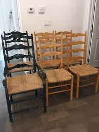 maple ladder back dining chairs