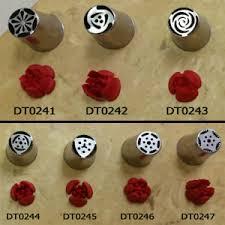 Russian Decorating Tip 7 Piece Set Buttercream Icing Flower Tips