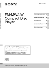 sony cdx gt472um manuals Sony Cdx Gt25 Wiring Diagram manuals and user guides for sony cdx gt472um we have 2 sony cdx gt472um manuals available for free pdf download operating instructions manual, sony cdx-gt25mpw wiring diagram